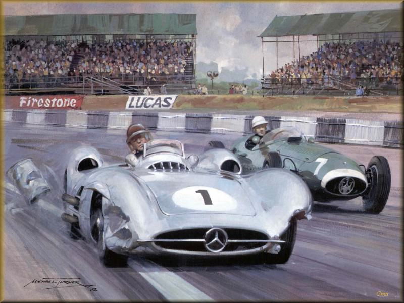 CorsaScan 009 Fangio And Moss 1957 Silverstone. Michael Turner