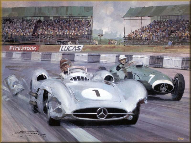 CorsaScan 009 Fangio And Moss 1957 Silverstone. Майкл Тернер