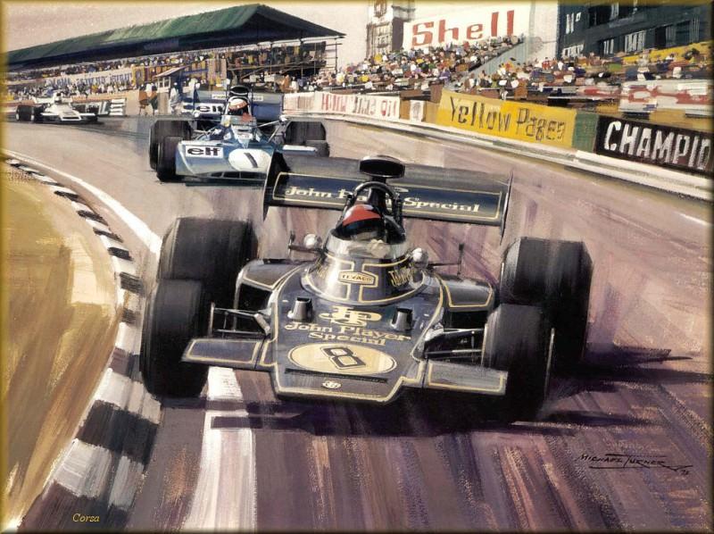CorsaScan 029 Fittipaldi In The JPS Lotus 72. Майкл Тернер