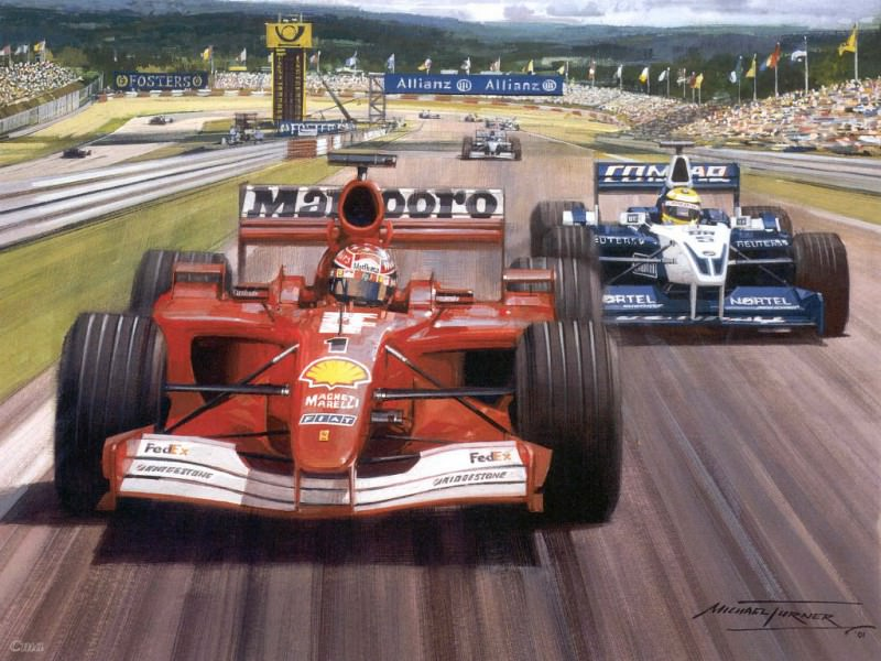 Cmamtfo 001 michael and ralf european gp 2001 nurburgring. Майкл Тернер
