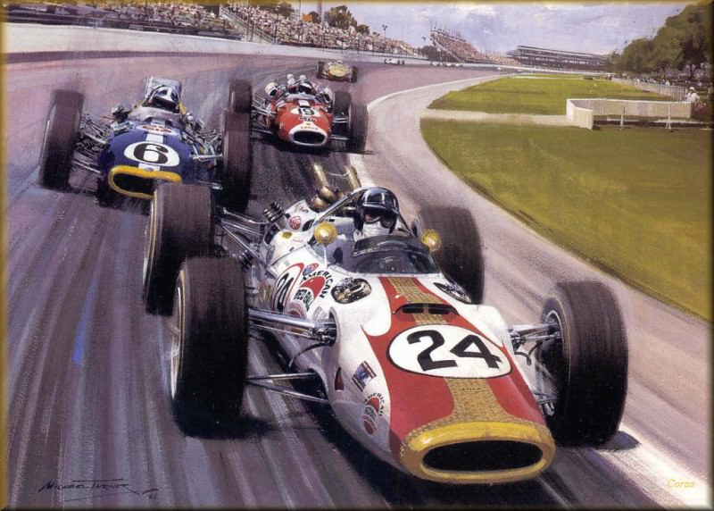CorsaScan 028 Rookie Hill Wins The Indy 500 1966. Michael Turner