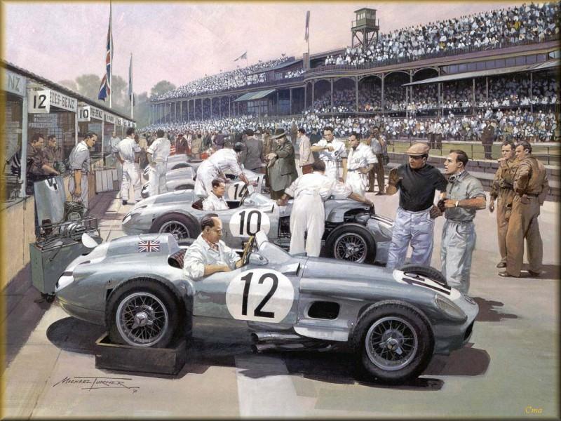 CorsaScan 003 Mercedes Team 1955. Майкл Тернер