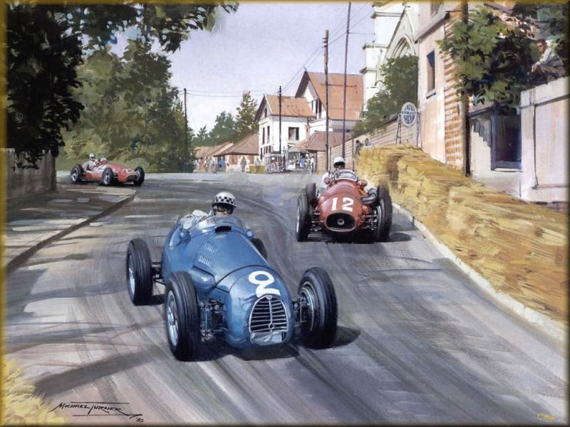 CorsaScan 007 Gordini Road Racing At Pau 1954. Michael Turner