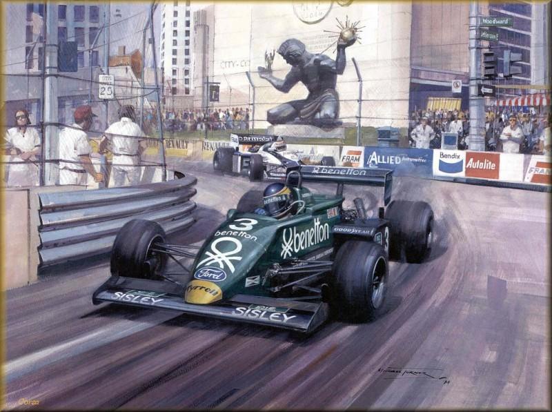 CorsaScan 033 Alboreto Victory In Detroitt. Майкл Тернер