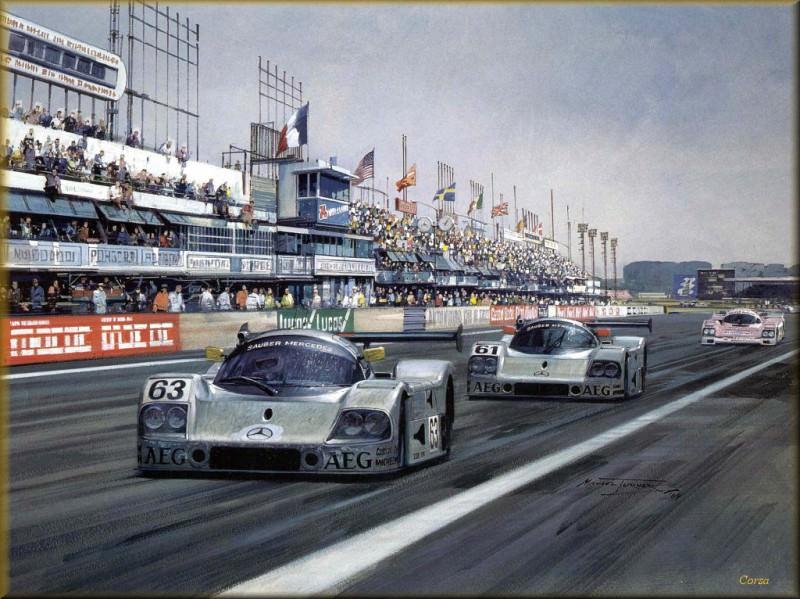 CorsaScan 037 Mercedes Le Mans 1989. Michael Turner