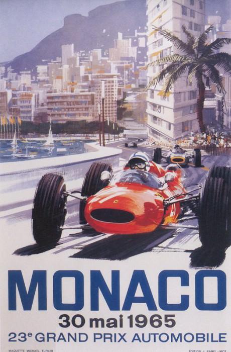 Cmamtmon 059 poster monaco gp 1965. Майкл Тернер