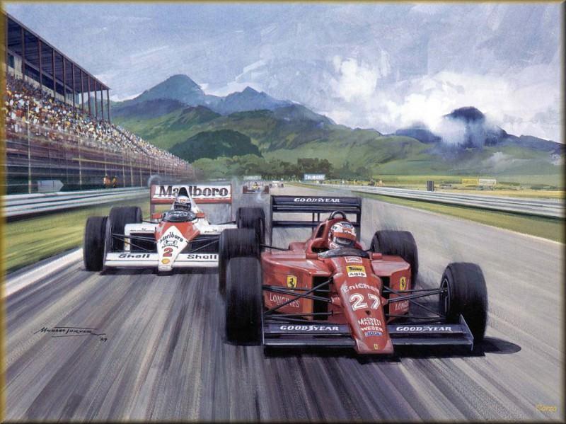 CorsaScan 038 Mansell in Ferrari At Rio 1989. Майкл Тернер