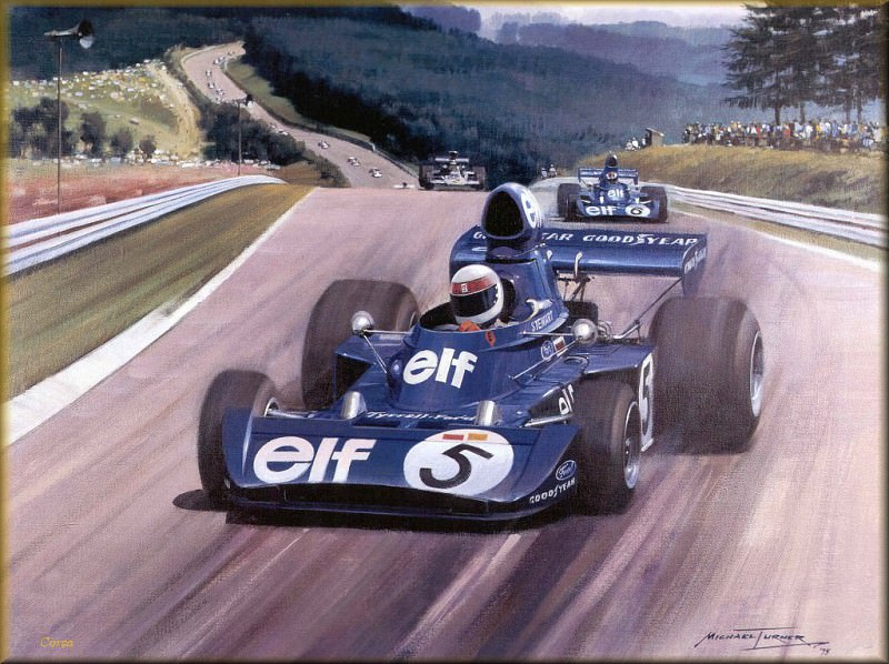 CorsaScan 030 Jackie Stewart In The Tyrell. Майкл Тернер