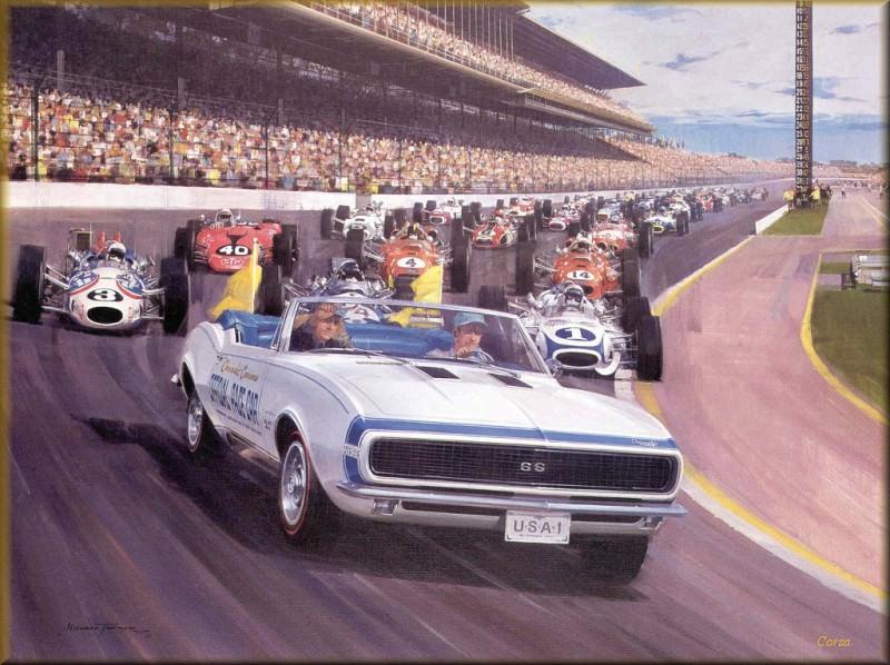 CorsaScan 019 Camaro Pace Car Indy 500 1967. Майкл Тернер