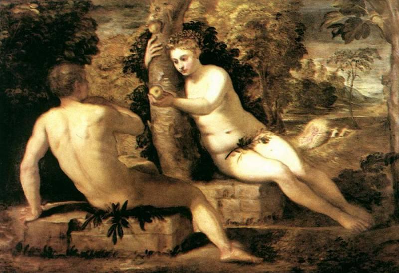 Adam and Eve WGA. Tintoretto (Jacopo Robusti)