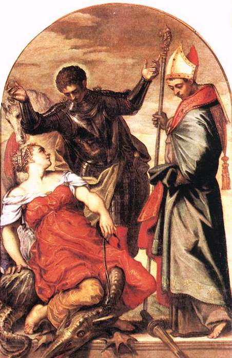 St Louis St George and the Princess WGA. Tintoretto (Jacopo Robusti)