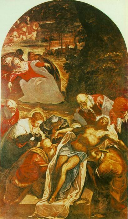 Entombment WGA. Tintoretto (Jacopo Robusti)