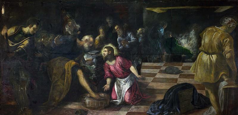 Якопо Тинторетто - Христос моет ноги своим ученикам. Tintoretto (Jacopo Robusti) (Christ washing the Feet of the Disciples)