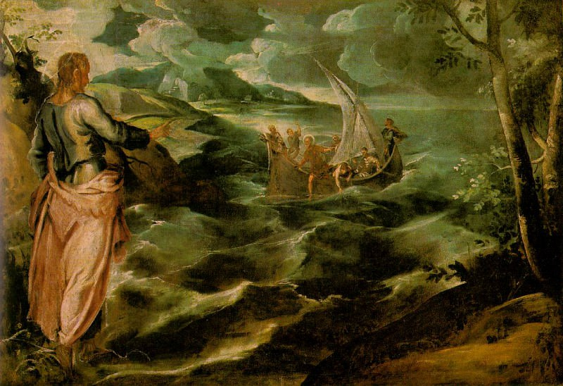 Christ at the Sea of Galilee WGA. Tintoretto (Jacopo Robusti)