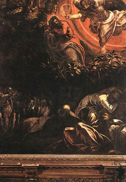 Tintoretto The Prayer in the Garden. Тинторетто (Якопо Робусти)