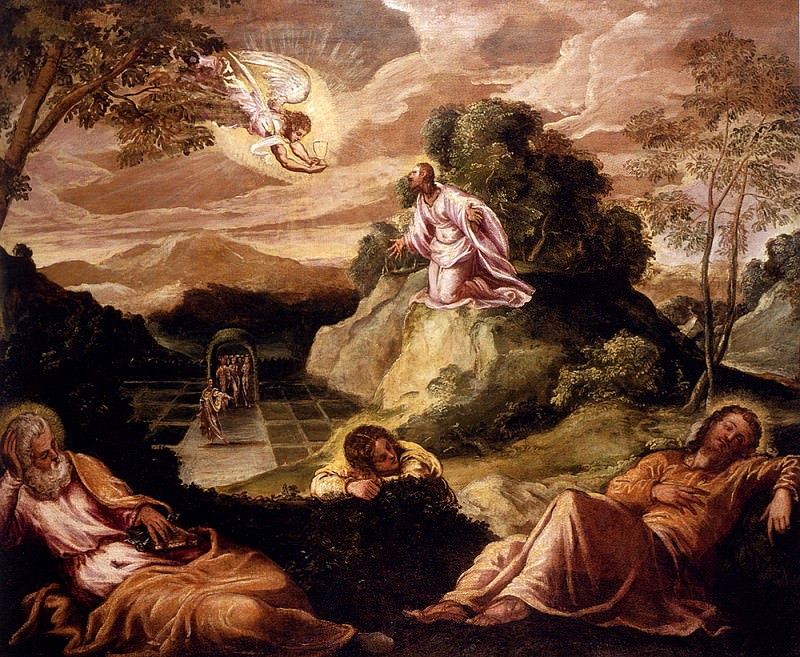 Robusti Jacopo Agony In The Garden. Tintoretto (Jacopo Robusti)