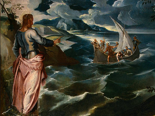 TINTORETTO CHRIST AT THE SEA OF GALILEE, C. 1575-1580, DETAL. Tintoretto (Jacopo Robusti)
