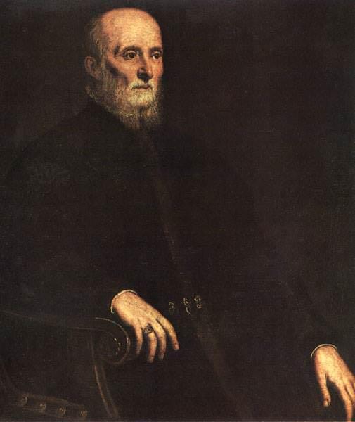 TINTORETTO RITRATTO DI ALVISE CORNARO,PITTI. Tintoretto (Jacopo Robusti)