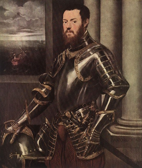 Tintoretto Man in Armour. Tintoretto (Jacopo Robusti)