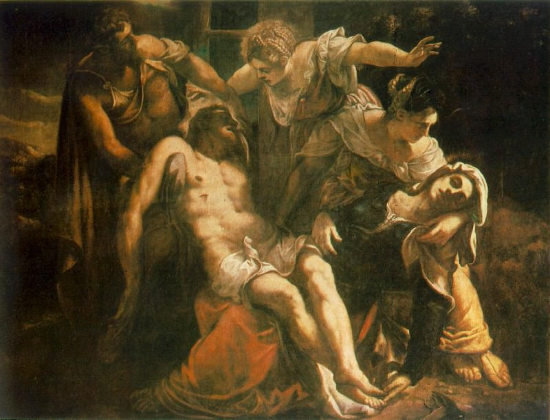 Descent from the Cross WGA. Tintoretto (Jacopo Robusti)