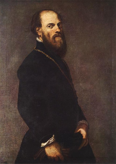 Tintoretto Man with a Golden Lace. Tintoretto (Jacopo Robusti)