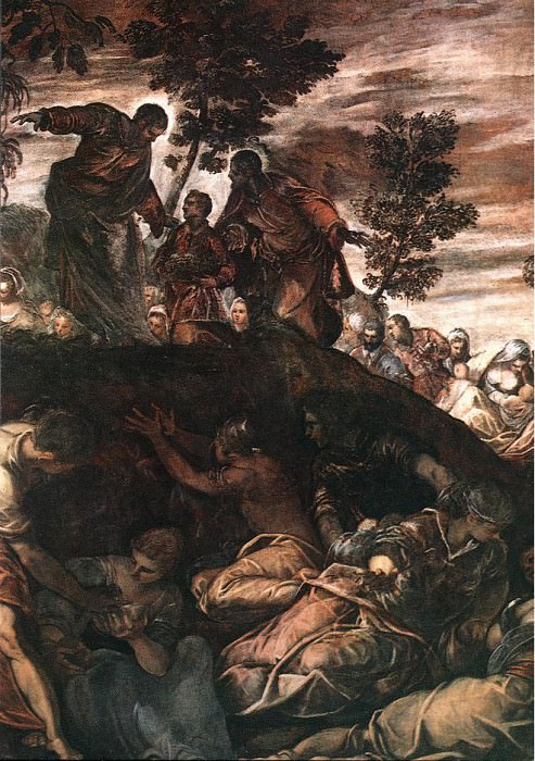 Tintoretto The Miracle of the Loaves and Fishes. Tintoretto (Jacopo Robusti)