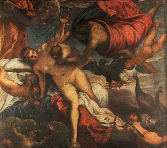 TINTORETTO THE ORIGIN OF THE MILKY WAY, 1570,NGLONDON. Tintoretto (Jacopo Robusti)