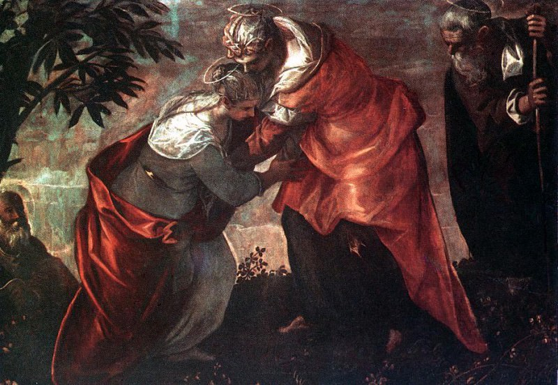 Tintoretto The Visitation. Тинторетто (Якопо Робусти)