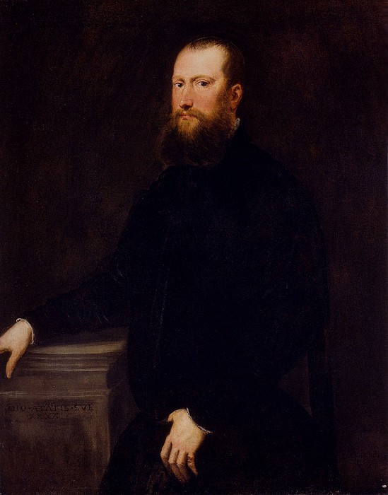 Portrait Of A Bearded Venetian Nobleman. Tintoretto (Jacopo Robusti)