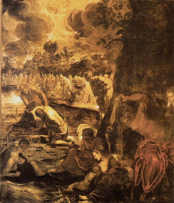Tintoretto Baptism of Christ, 1579-81, 538x465 cm, Sala Gran. Tintoretto (Jacopo Robusti)