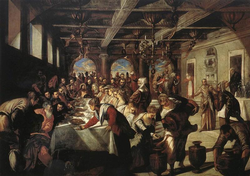 Marriage at Cana WGA. Tintoretto (Jacopo Robusti)