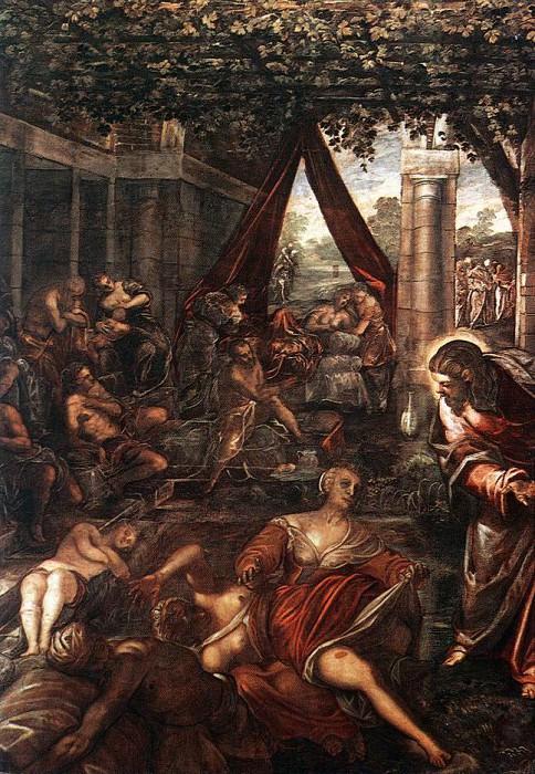 Tintoretto La Probatica Piscina. Tintoretto (Jacopo Robusti)