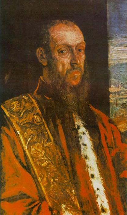 Portrait of Vincenzo Morosini, c.1580, 84.5x51.5. Tintoretto (Jacopo Robusti)