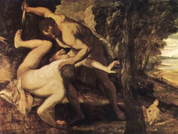 TINTORETTO KAIN OCH ABEL, 1550-1553, VENEDIG. Tintoretto (Jacopo Robusti)