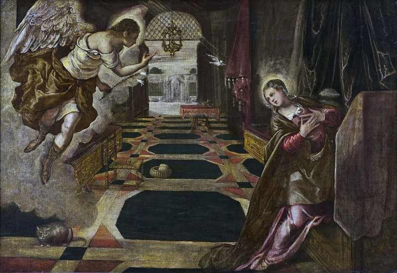 The Annunciation. Tintoretto (Jacopo Robusti) (Workshop)