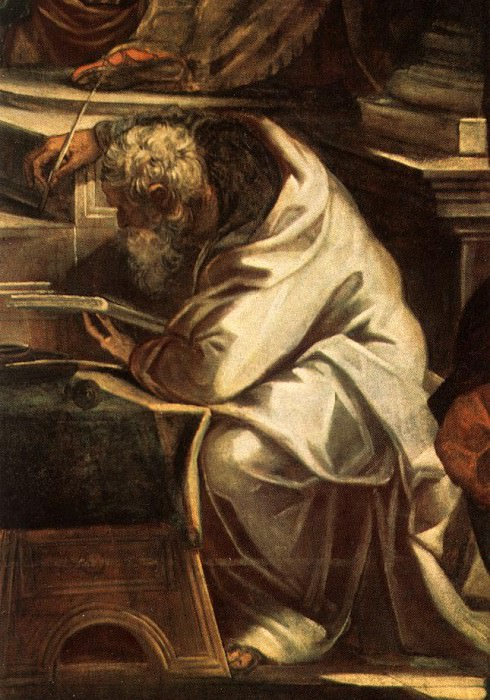 Tintoretto Christ before Pilate detail1. Tintoretto (Jacopo Robusti)
