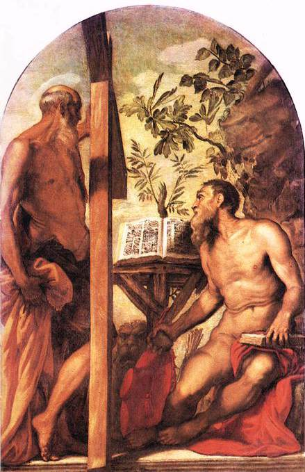St Jerome and St Andrew WGA. Tintoretto (Jacopo Robusti)