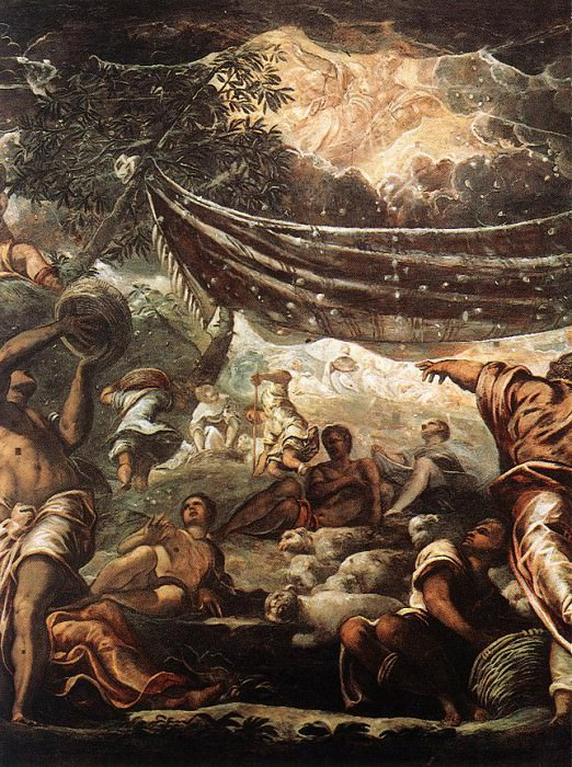 Tintoretto The Miracle of Manna detail. Tintoretto (Jacopo Robusti)