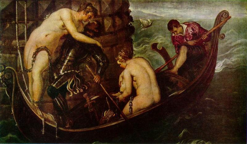 Tintoretto The deliverance of Arsinoe, ca 1560, 153x251 cm,. Tintoretto (Jacopo Robusti)