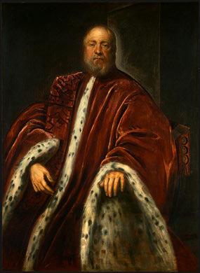 TINTORETTO A PROCURATOR OF SAINT MARKS, 1575-1585, NGW. Tintoretto (Jacopo Robusti)