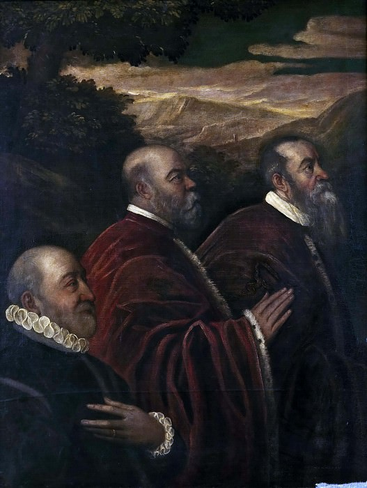 Three Venetian Counsellors. Tintoretto (Jacopo Robusti) (School of)