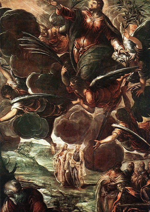 Tintoretto The Ascension detail1. Тинторетто (Якопо Робусти)