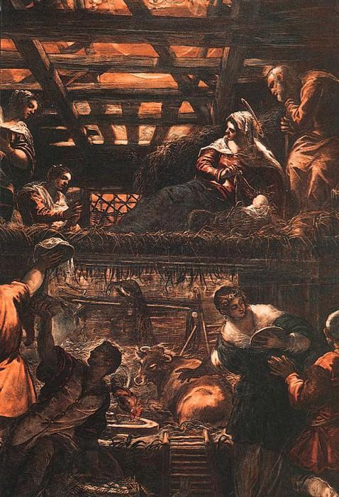 Tintoretto The Adoration of the Shepherds. Tintoretto (Jacopo Robusti)