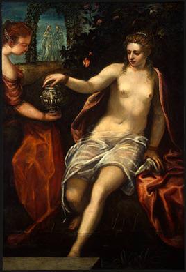 TINTORETTO SUSANNA, C. 1575, NGW. Tintoretto (Jacopo Robusti)