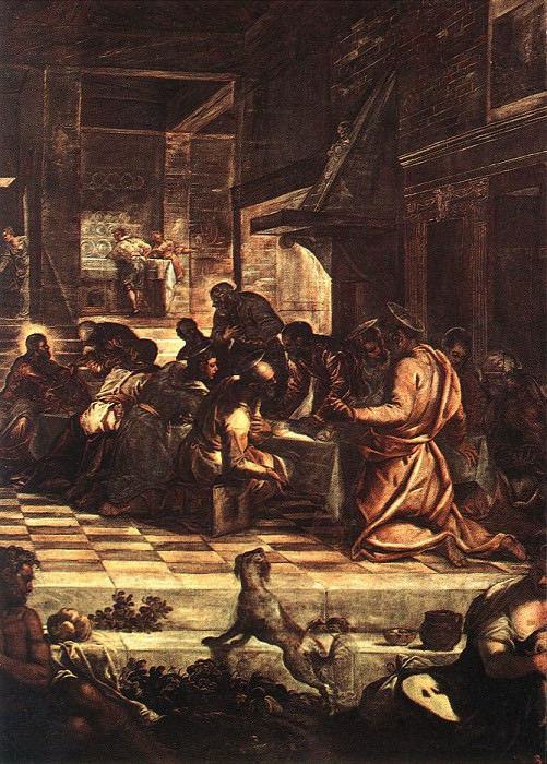 Tintoretto The Last Supper detail1. Tintoretto (Jacopo Robusti)