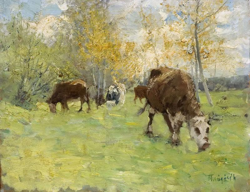 Landscape with cows. Carl Trägårdh