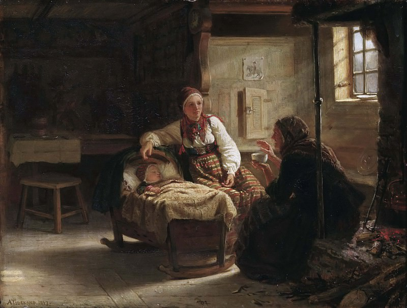 The Fortune-teller. Adolph Tidemand