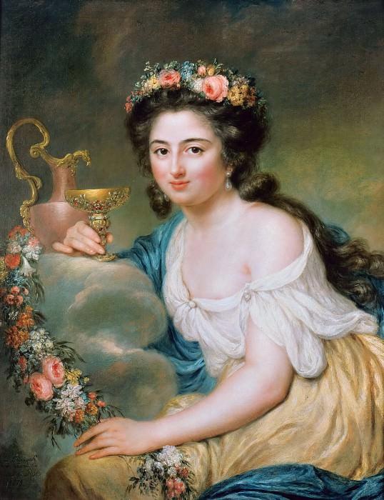 Portrait of Henriette Herz as Hebe. Anna Dorothea Therbusch