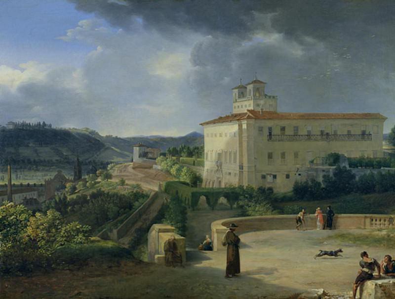View of the Villa Medici, Rome. Nicolas Antoine Taunay