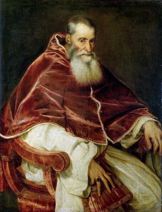 Pope Paul III. Titian (Tiziano Vecellio)